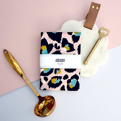 Pink Leopard Print tea Towel