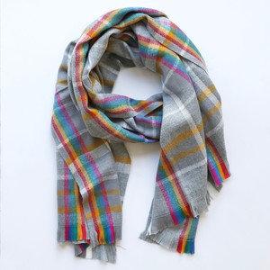 Colourful Tartan Blanket Scarf