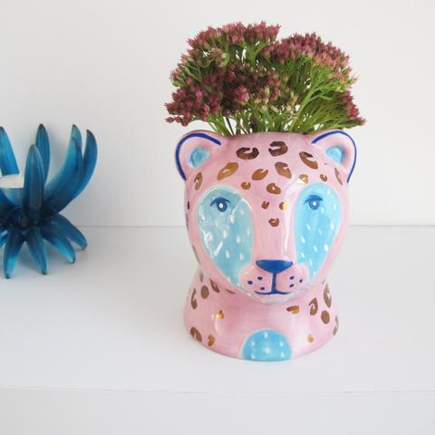 Savannah Leopard Pot