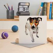 Jack Russel Greetings Card