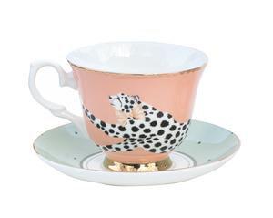 Cheetah Teacup & Saucer