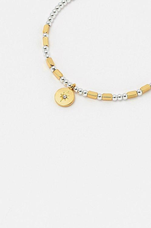 Silver & Gold Starlight Charm Bracelet