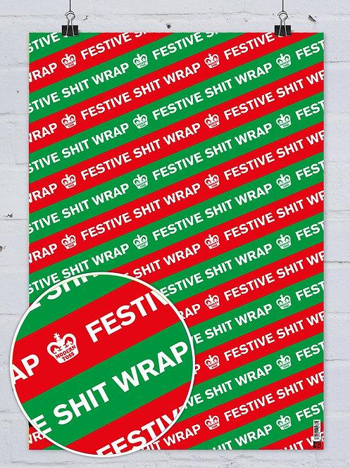 Festive Shit Gifts Wrap