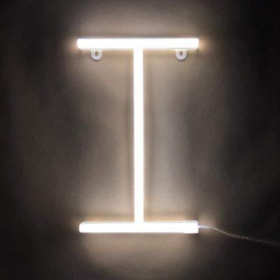 Neon Letter I White