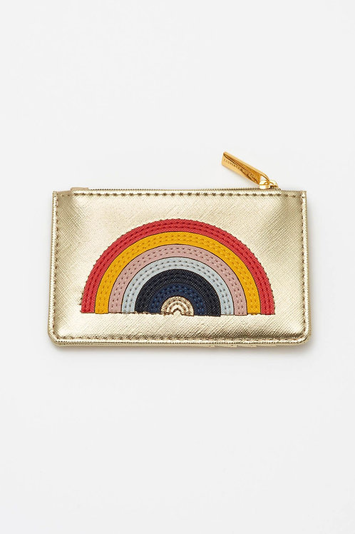 Gold Rainbow Applique Card Purse
