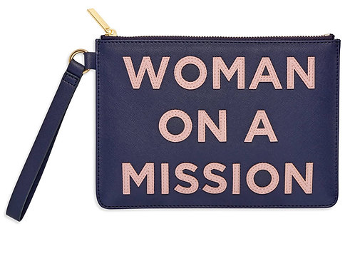 Woman On A Mission Applique Medium Pouch