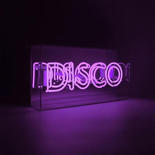 Purple Disco Acrylic Box Neon Light