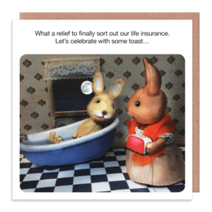 Let's Celebrate with some Toast GreetingCard