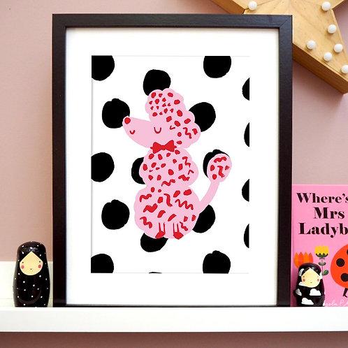 Spotty Poodle Print