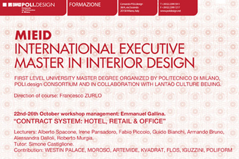 2012 MIED INTERNATIONAL EXECUTIVE MASTER IN INTERIOR DESIGN