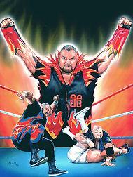 "Bam Bam Bigelo- 14.5""x 19""- WWE merchandise catalog- $800"