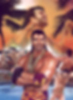 "Razor Ramon- 13.5""x 18"" (Costume designed by Tom) WWE merchandise catalog- $1,000"