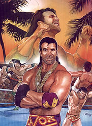 "Razor Ramon- 13.5""x 18"" (Costume designed by Tom) WWE merchandise catalog- $1,200"