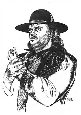 Undertaker Original art