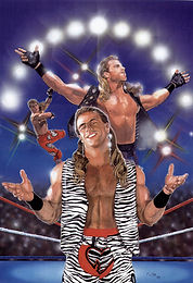 "Shawn Michaels- 16.5""x 23"" WWE merchandise catalog- $1,500"