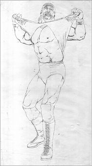 Hulk Hogan original art