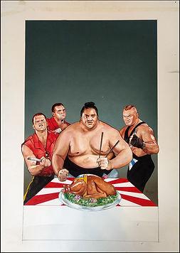 Survivor Series 93 Original paintings- Own WWE history!