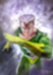 QUICK SILVER original art 2018 Ultra X-men trading card set $400