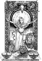 """Tom Fleming- """"Lion Queen"""" Limited Edition Print"""