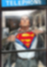 Classic Superman in Telephone Booth