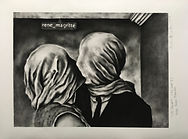 Les Amants ( the lovers ii ) after Rene Magritte