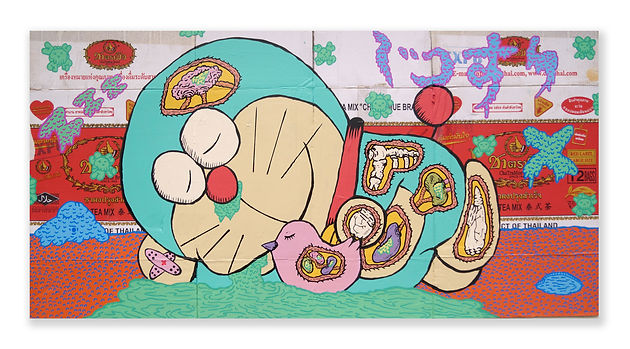Doraemon Sleeping Under Quarantine