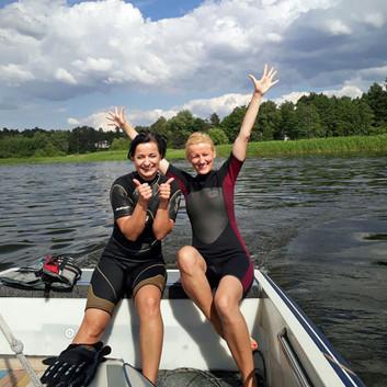 Water skiing, wakeboarding at Riga