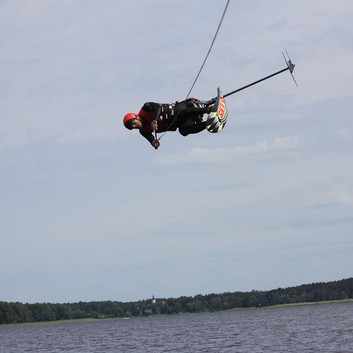 Waterskiing, wakeboarding, hydrofoiling at Riga