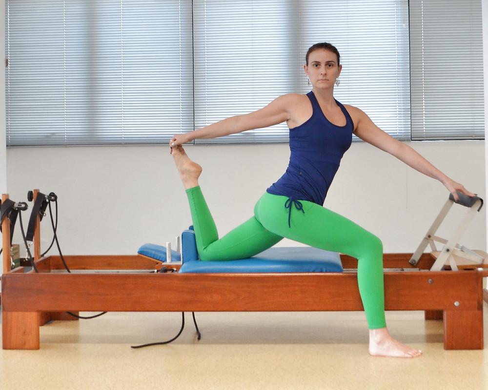 pilates alongamento de quadríceps