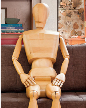 postura correta ao sofá espaço fluir