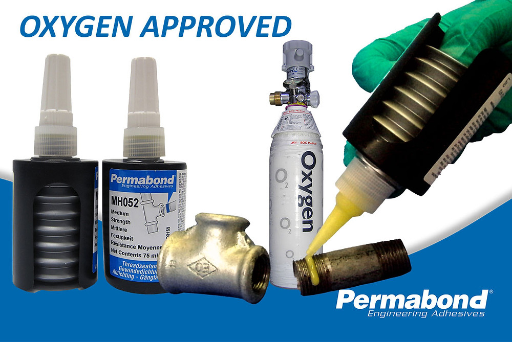 Pipe sealant approved for contact with pure oxygen