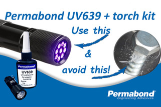 UV adhesive/UV torch kit for bonding acrylic sneeze screens