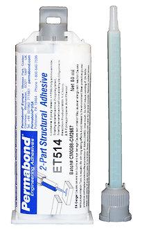 Permabond ET514 (rapid cure, gap filling) 1 x 50ml dual cartridge