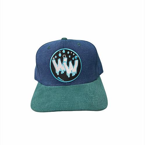 Water Wave Bubble Vintage Hat (B&G)