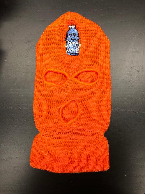Orange Water Wave Ski Mask