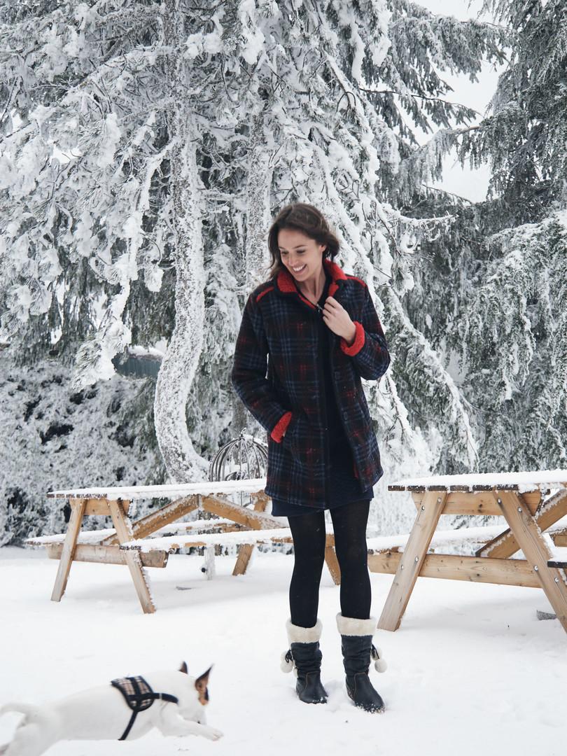 Manteau rouge Enzo
