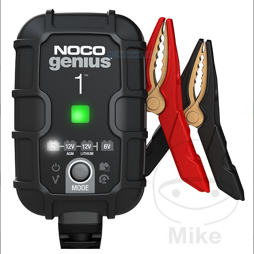 NOCO BATTERY CHARGER GENIUS1  6/12V 1A + 24/7 MAINTAIN TRICKLE