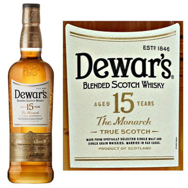 Dewars 15 Year Old Blended Scotch 750ml
