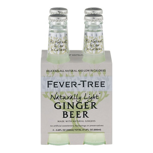 Fever-Tree Light Ginger Beer 4pack