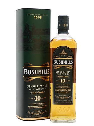 Bushmills 10 Year Single Malt Irish Whiskey 750ml