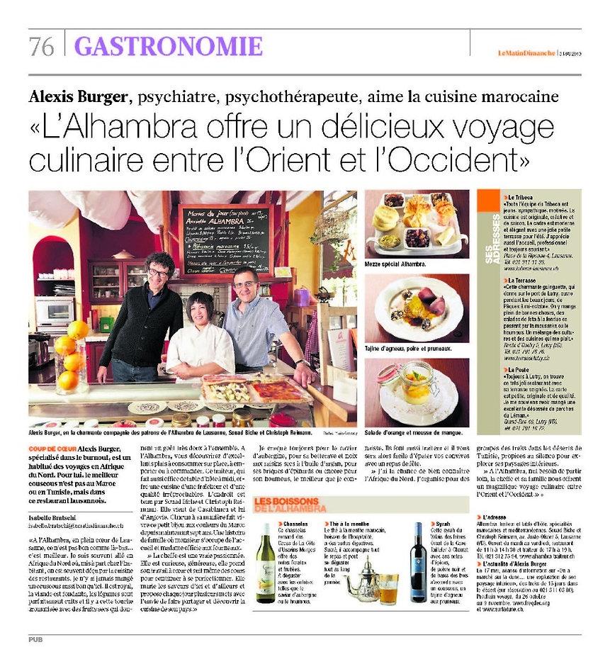 Alhambra Traiteur marocain Lausanne: Best Couscous in town