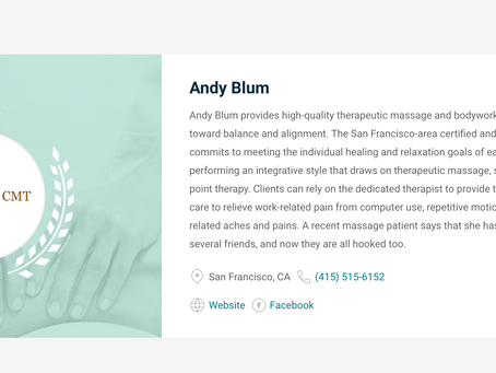 Voted one of the Best Massage Therapists in SF