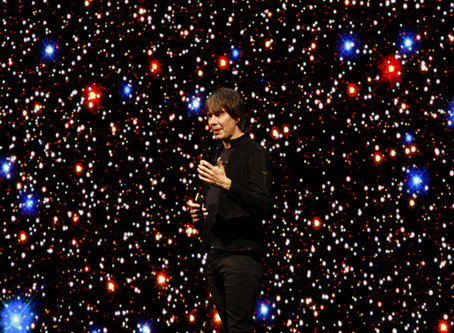 Filming with Prof Brian Cox