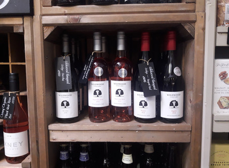 Wines on sale at fullers farm shop