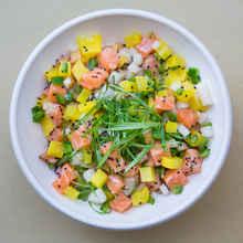Sweet Sesame Salmon Omakase Bowl