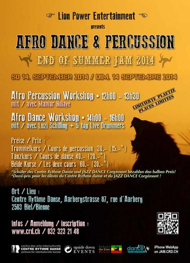 Stage de danse et percussions