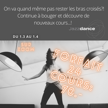 Danse&Yoga Online pour adultes du 01.03 au 01.04