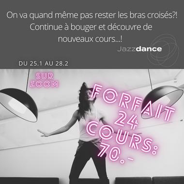 Danse&Yoga Online pour adultes (dès 16 ans) du 25.01 au 28.02