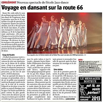 JDJ Jazz Dance Corgémont Route 66 2012