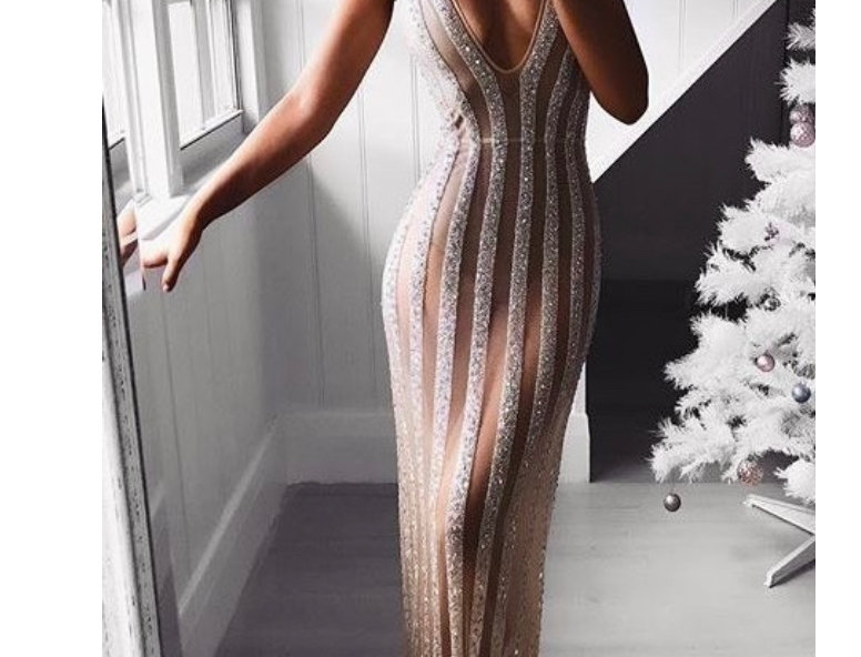 KLYE SEQUINS LONG DRESS